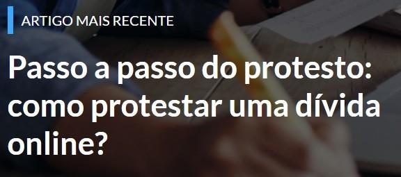 Passo a passo do protesto