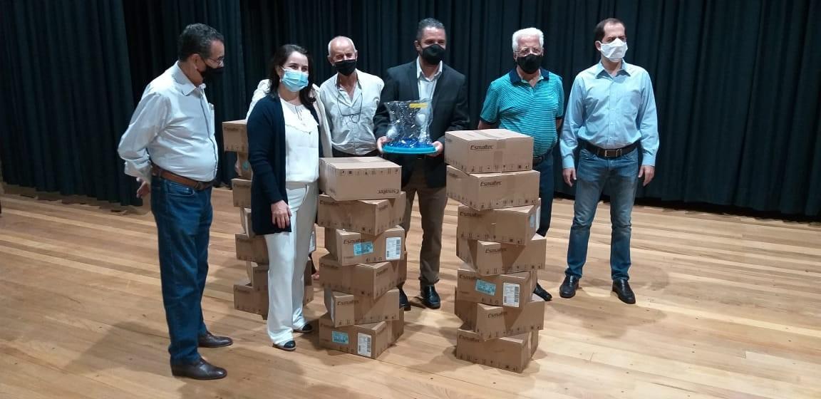 ACISSP fez a entrega de 20 Capacetes Elmo como forma de contribuir diretamente no entrenfamento da pandemia.