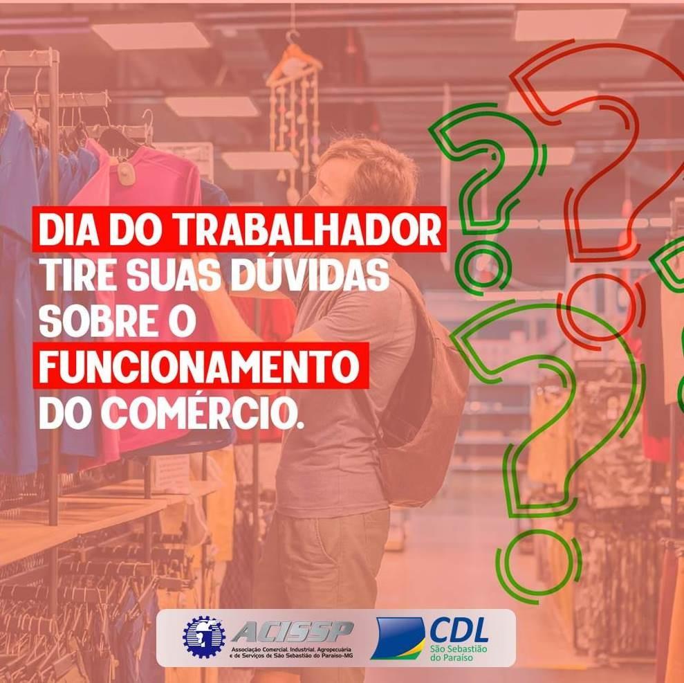 Dia do Trabalhador: como fica o funcionamento do Comércio?