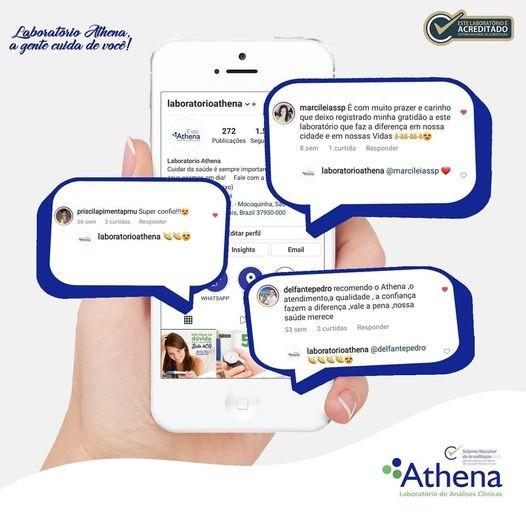 Laboratório Athena, a gente cuida de você!