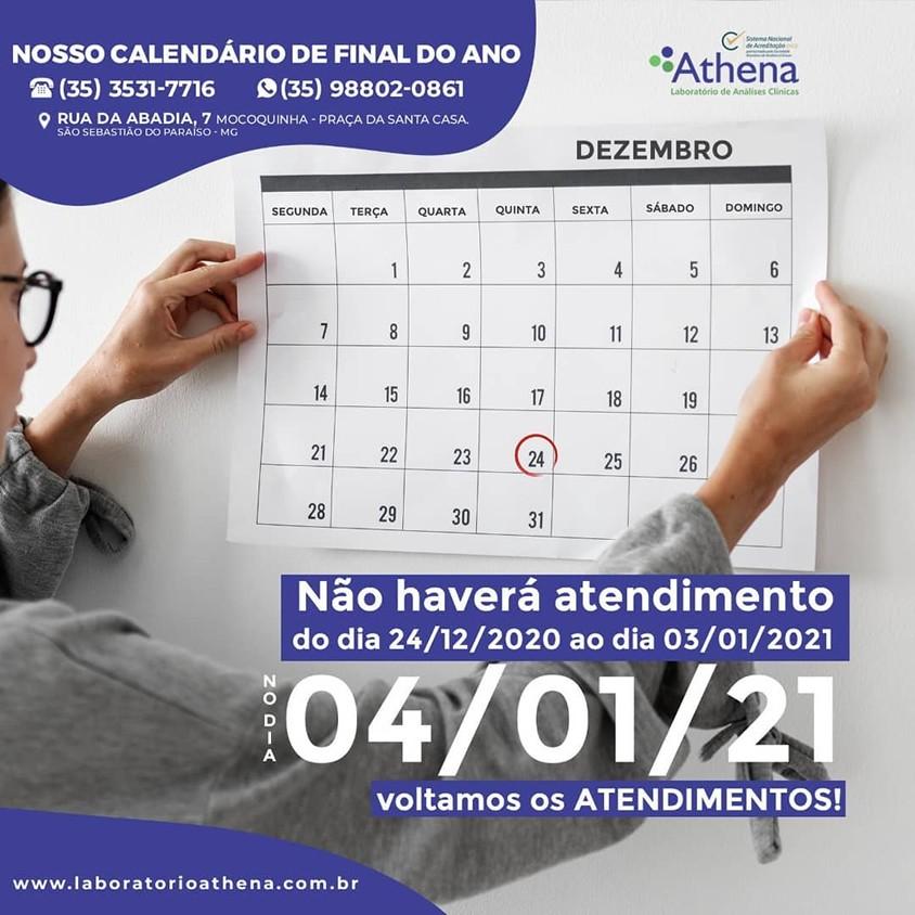 Nosso Calendário de Final do Ano!