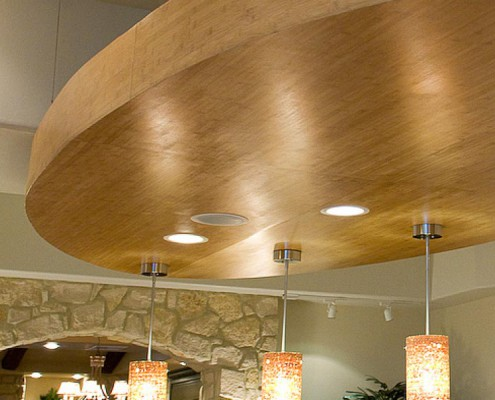LIGHT FEATURE Crawford Residence Horizontal Carbonized Bamboo Veneer