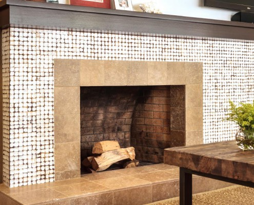 RESIDENTIAL FIREPLACE SURROUND Class A fire-rated Java Collection Yogya White