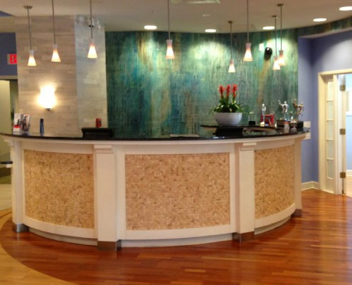 RECEPTION DESK Hotel Indigo, Sarasota, Florida Sumatra Collection Gido