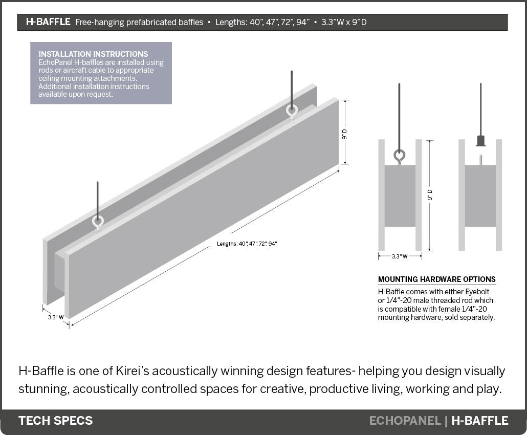 Kirei echopanel geometric tiles building for health - Download Spec Sheet