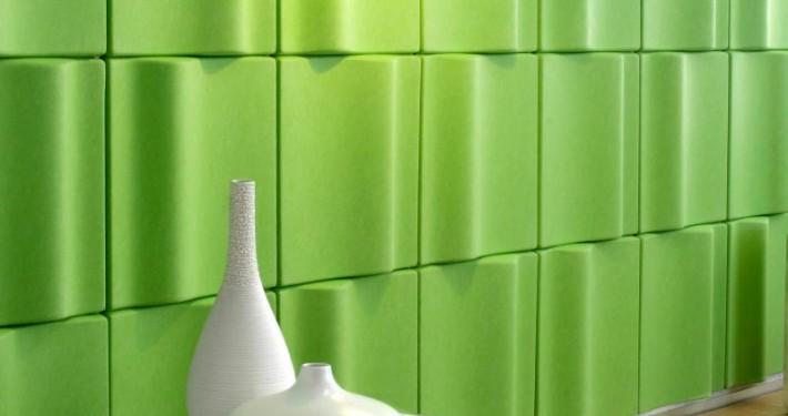 Bold-Colored Wave Tiles Acoustic Panels