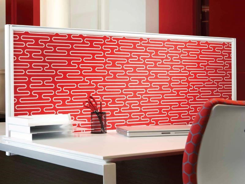 Cubical, Desk Areas Patterned Acoustic Panels