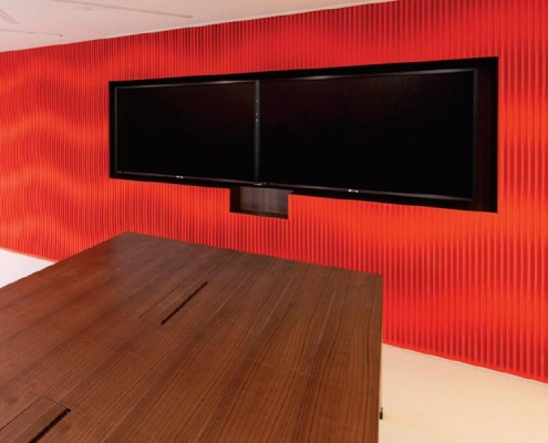 Curved, Textured Acoustic Panels