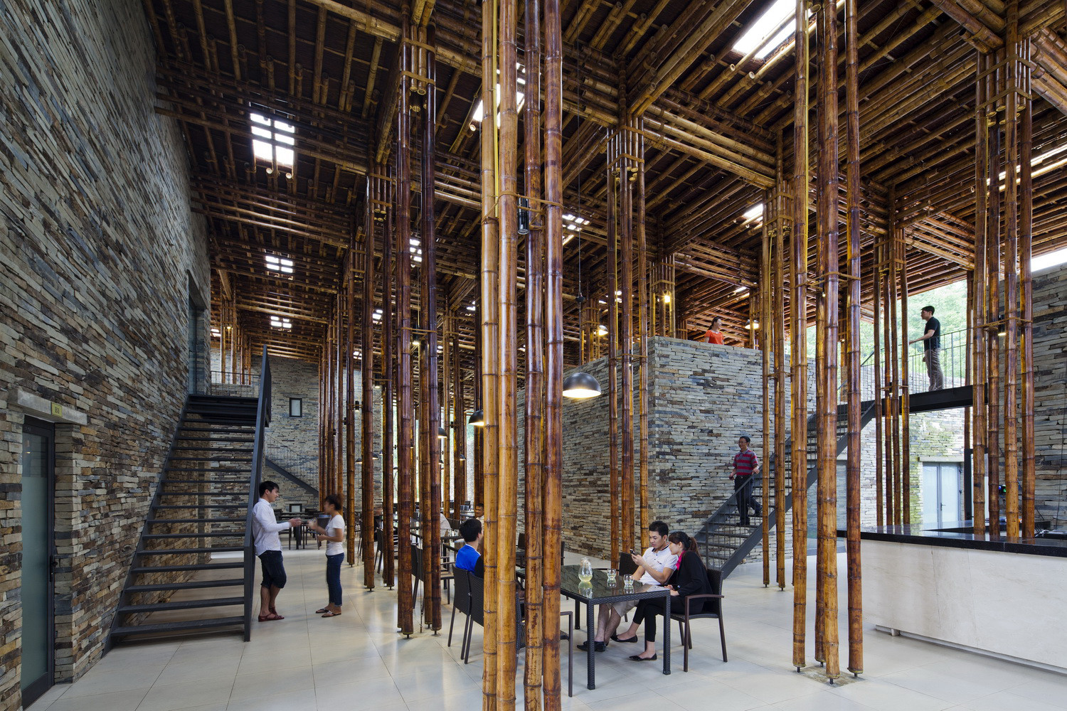 10 inspiring spaces with bamboo ceilings - kirei usa