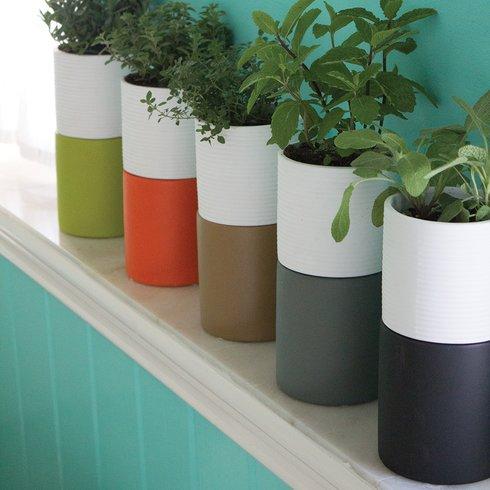 Self-Watering+Ceramic+Pot+Planter