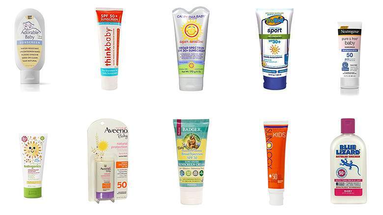 What are the best natural, chemical-free sunscreens for babies and children?