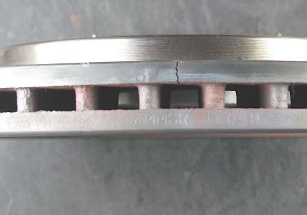Cracked Rotor Sideview