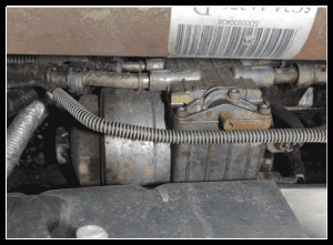 in addition to a filter and an electric fuel pump, the hfcm contains a  diesel thermal recirculating valve (dtrm)  the dtrm determines the flow  direction of