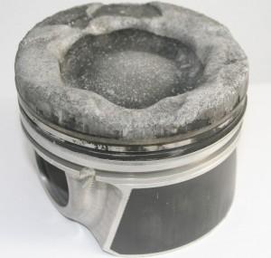 Forged piston meltdown