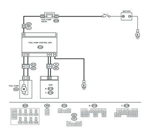 analyzing fuel pump wiring schematics