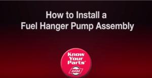 Install Fuel Hanger Pump Assembly