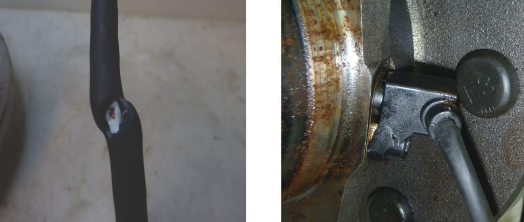 Damaged ABS Sensor