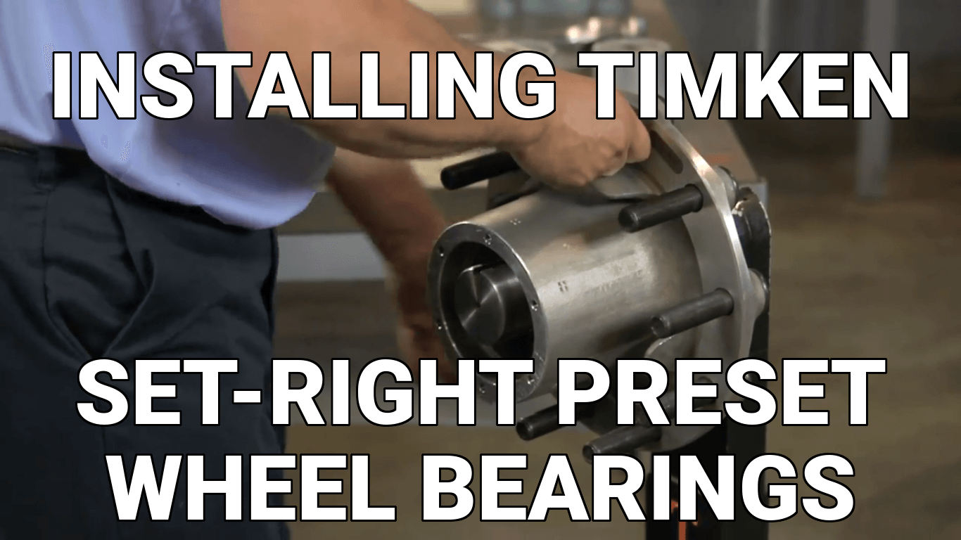 Installing a Timken Set-Right Preset Bearing - Know Your Parts