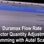 Duramax流量(喷油器数量调整)编程与Autel扫描工具
