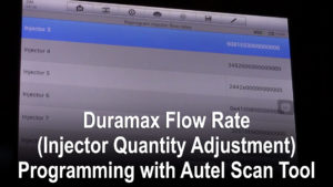 Duramax Flow Rate (Injector Quantity Adjustment) Programming with Autel Scan Tool