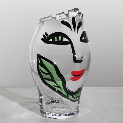 Kosta Boda Face Vase