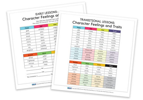 Character Feeling and Traits Cards