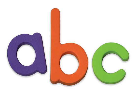 Lowercase Magnetic Letters