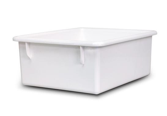 White Book Storage Tub