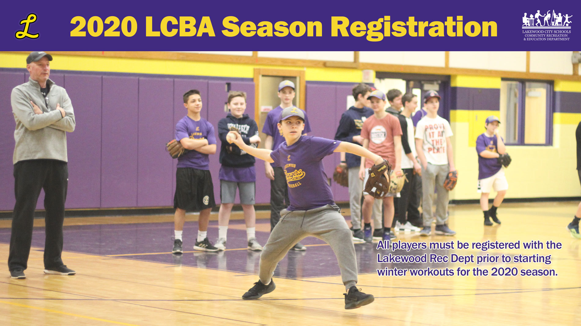 LCBA Registration for 2020 Season