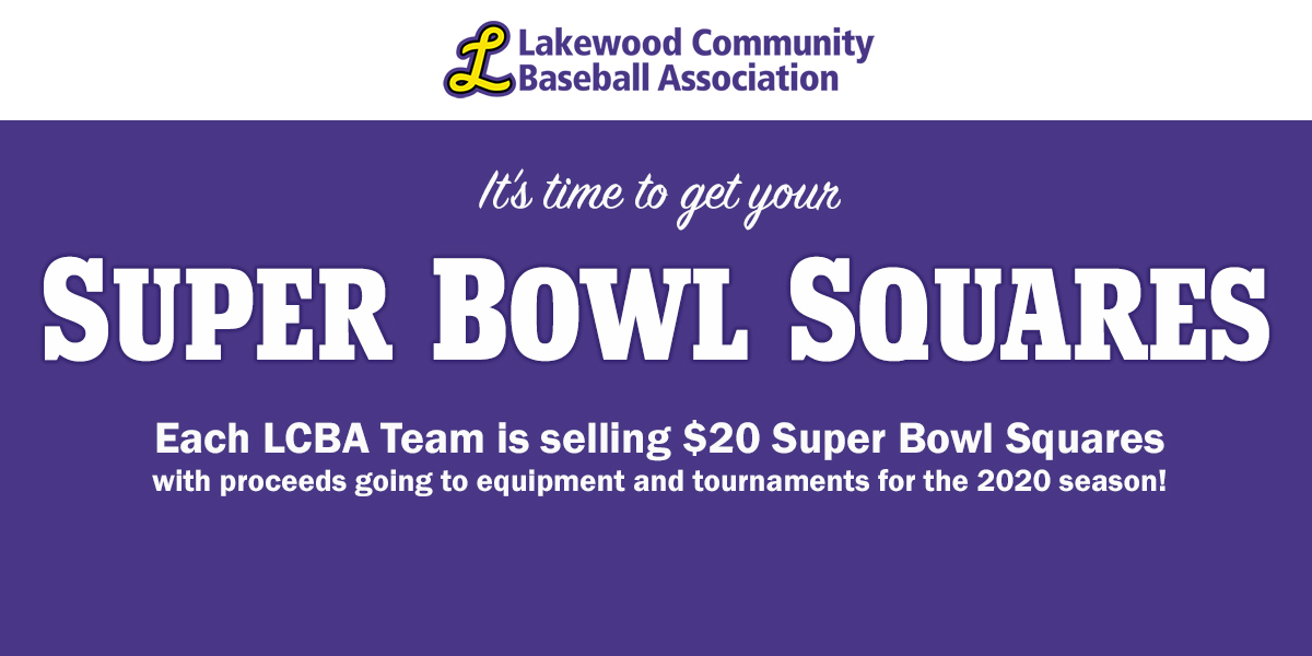 LCBA Super Bowl Squares Fundraiser
