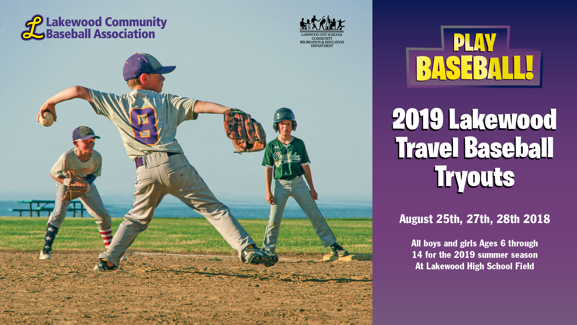 Lakewood Travel Baseball Tryouts for 2019