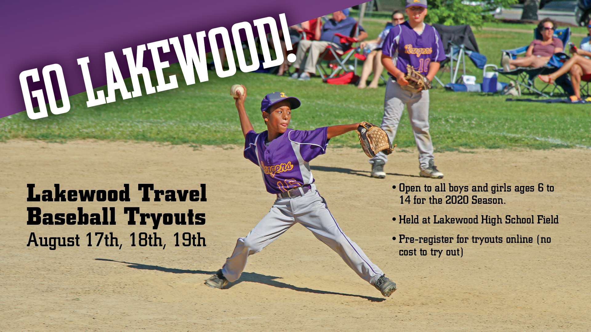Lakewood Travel Baseball Tryouts for 2020