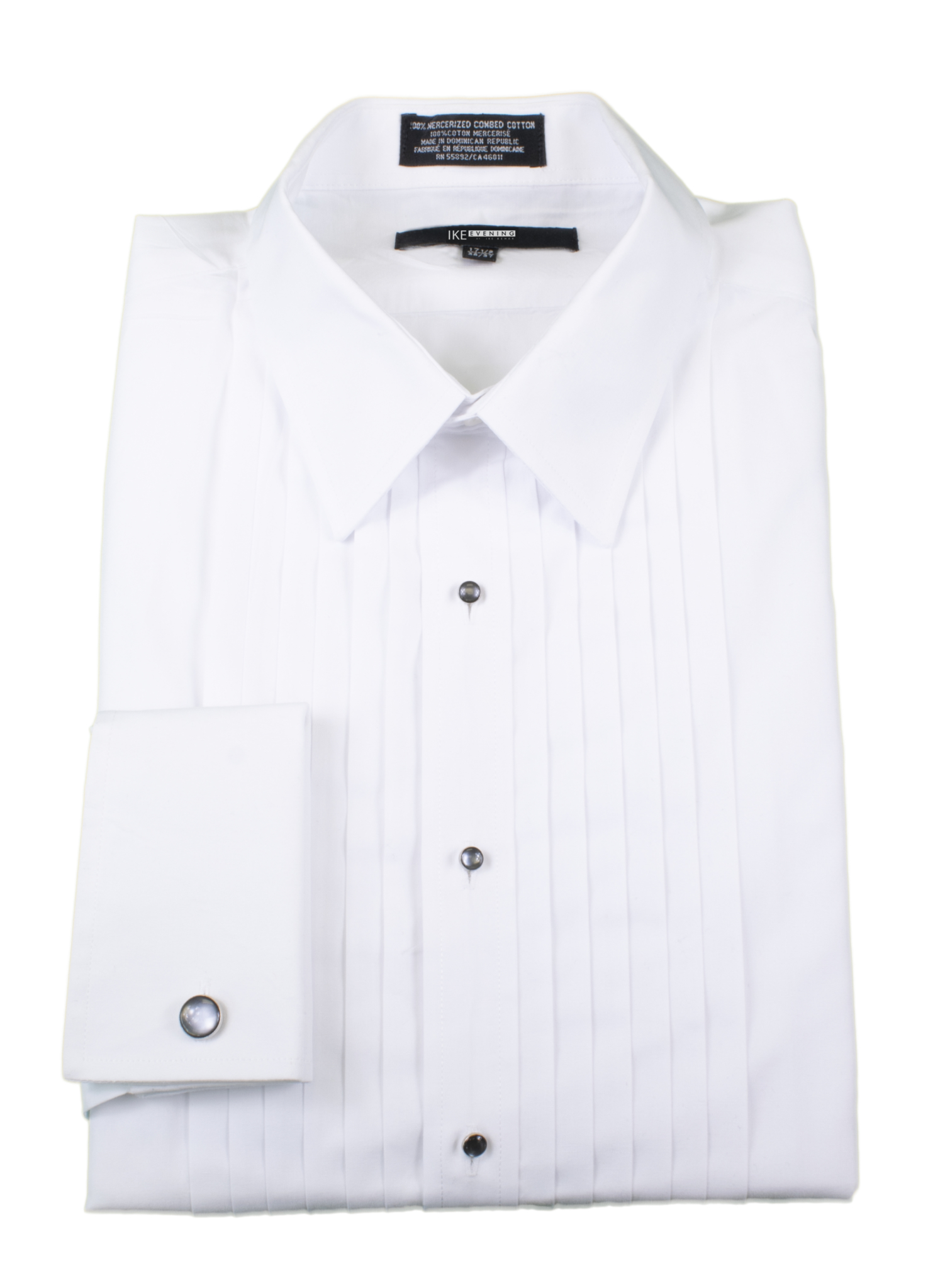 0c9a8b2f3 100% Cotton French Cuff Point Collar Shirt | Louie's Tux Shop