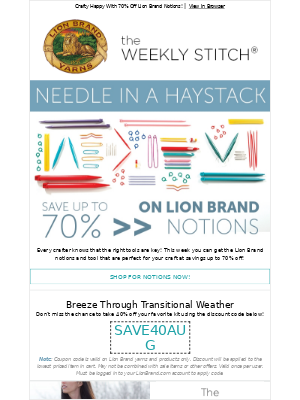 Lion Brand Yarn Email Example Hey Baby Check Out These Free Knit