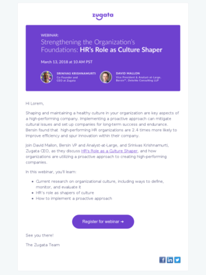 Bersin Webinar | HR's Role as Culture Shaper