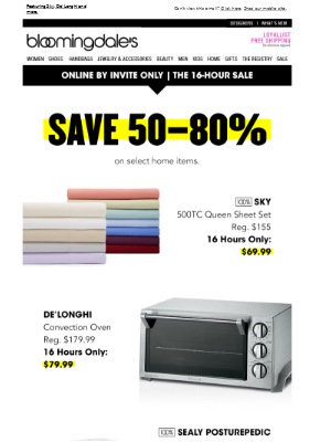 16 hours only! Save 50-80% in home