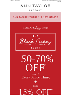 Black Friday Is Even Better: 50-70% Off + Extra 15% Off