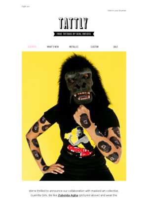 We're So Excited About our New Guerrilla Girls Tattly!