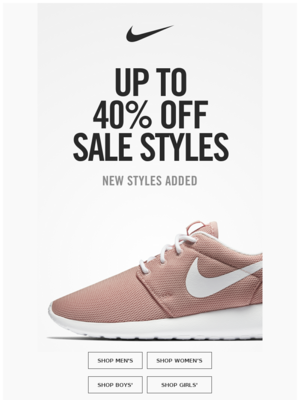 New styles added: Up to 40% off
