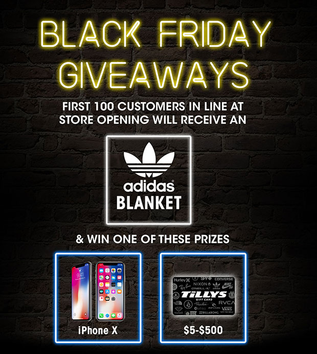 Black Friday Giveaways - First 100 Customers In Line Receive Prizes