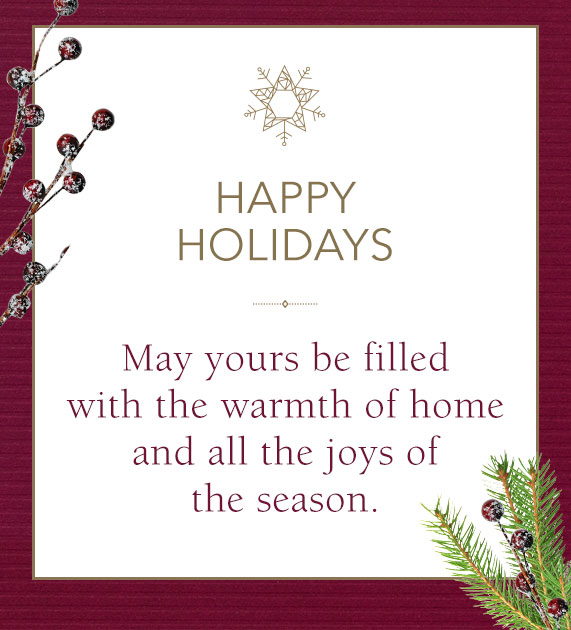 Jared email example Warmest of Wishes for a Happy Healthy Holiday