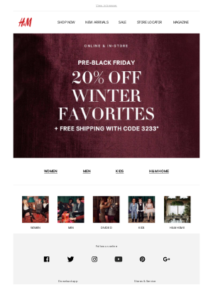 48 hrs! 20% off winter faves + free shipping