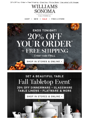 Fall Tabletop EVENT – Get Ready for Thanksgiving!