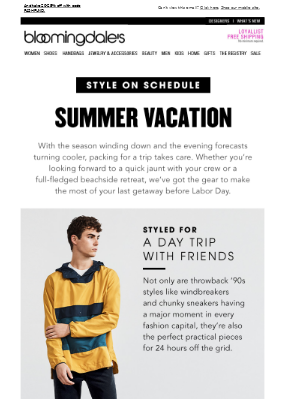 Style on Schedule: Summer Vacation
