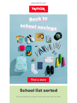 Back to school savings