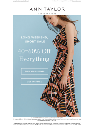 40-60% Off Everything?!?!