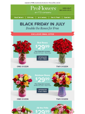 Double the roses for FREE during Black Friday in July!🌹🌹