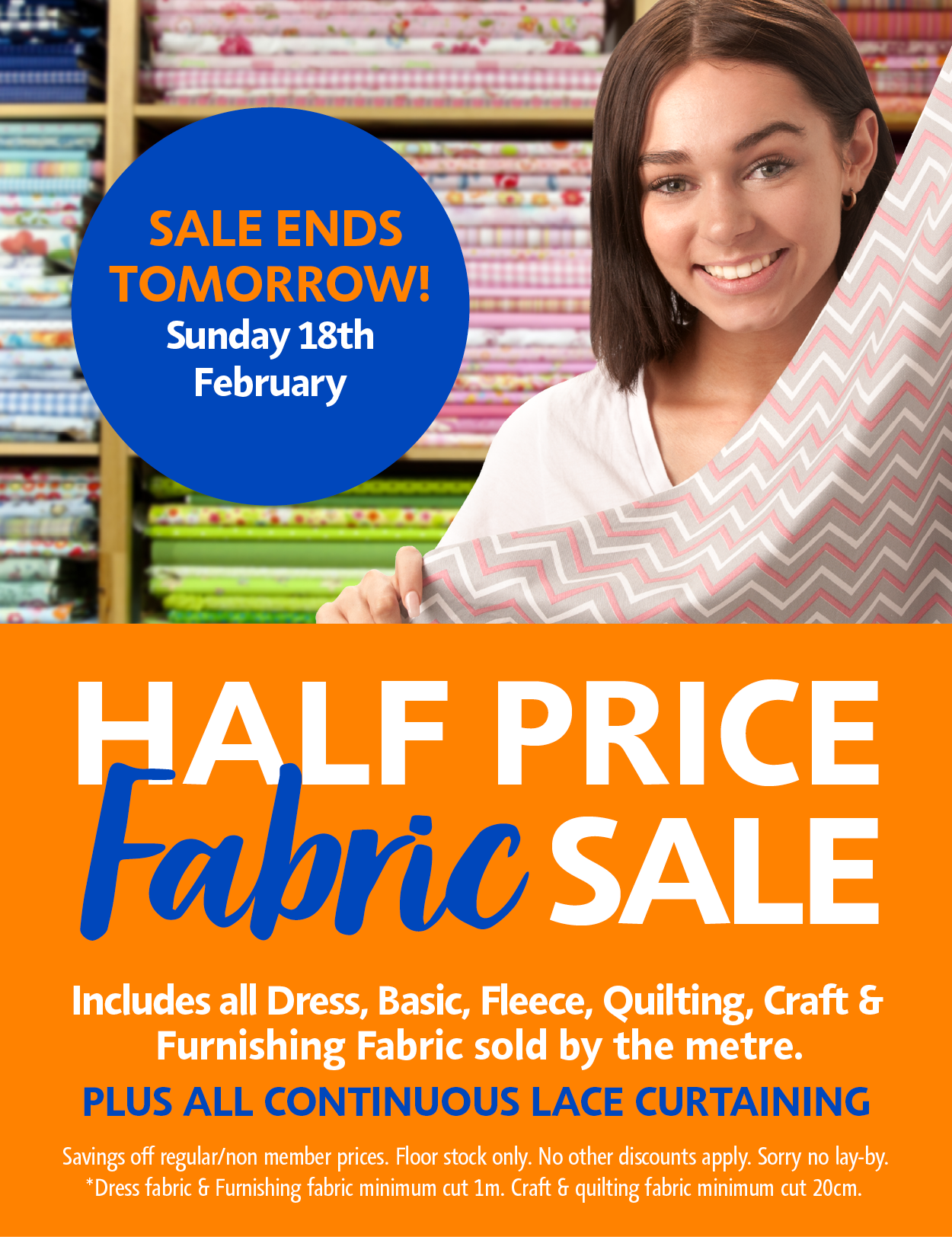 Lincraft email example half price fabric ends tomorrow fabric patterns jeuxipadfo Gallery