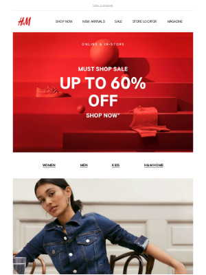 Save up to 60% off sale styles