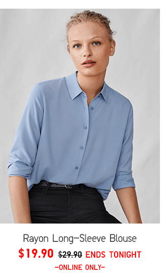 RAYON LONG-SLEEVE BLOUSE 19.90 - SHOP WOMEN